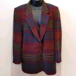 Vintage 90's Aztec southwestern blazer jack